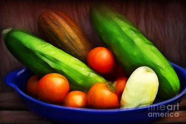 Photograph - Cucumbers And Tomatoes Artwork by Lutz Baar