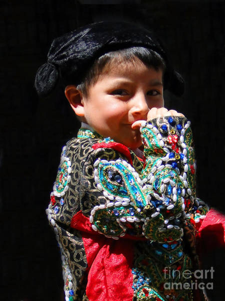 Matador Photograph - Cuenca Kids 243 by Al Bourassa