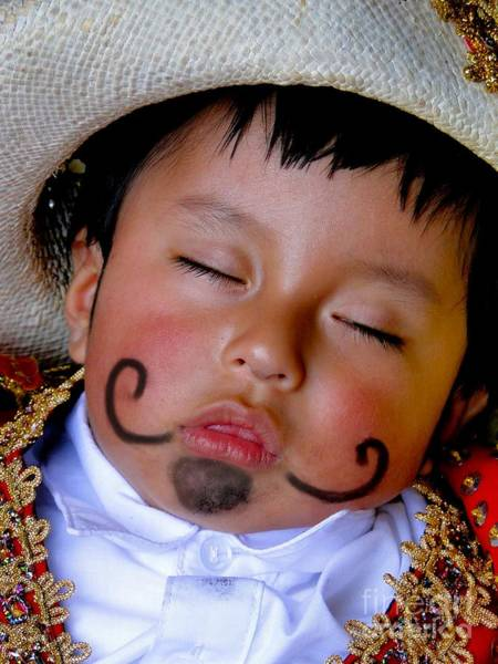 Goatee Photograph - Cuenca Kids 340 by Al Bourassa