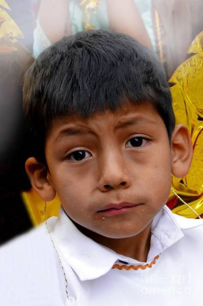 Dour Photograph - Cuenca Kids 411 by Al Bourassa