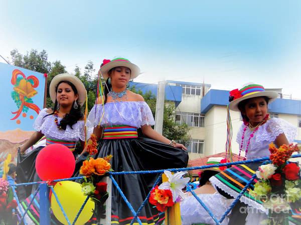 Folk Dances Photograph - Cuenca Kids 455 by Al Bourassa