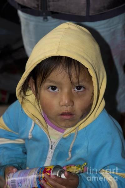 Hoodie Photograph - Cuenca Kids 513 by Al Bourassa