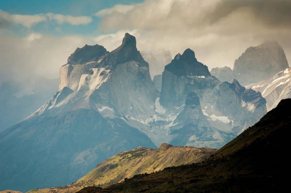 Antartica Wall Art - Photograph - Cuernos Del Paine Mountains In Torres by Edwin Remsberg
