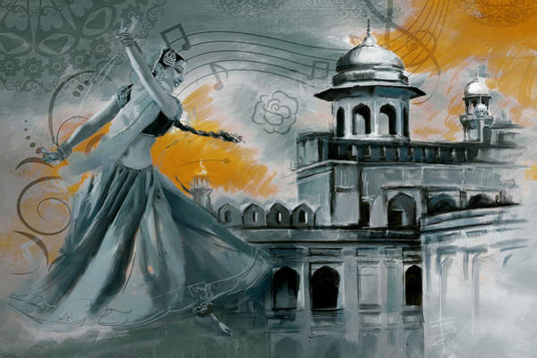Wall Art - Painting - Cultural Dancer 2 by Catf