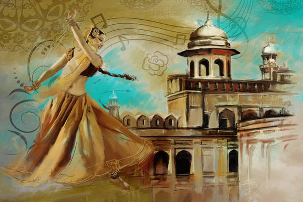 Wall Art - Painting - Cultural Dancer by Catf