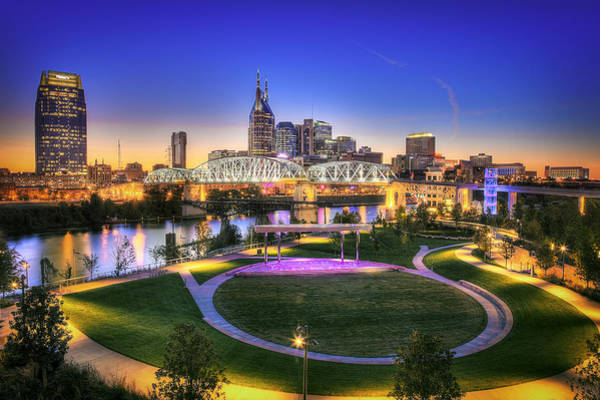 Cumberland Photograph - Cumberland Park And Nashville Skyline by Lucas Foley