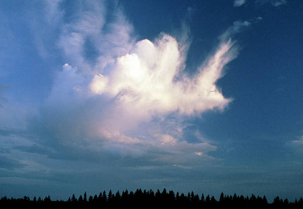 Cumulus Photograph - Cumulus Cloud With Stratus Clouds by Pekka Parviainen/science Photo Library