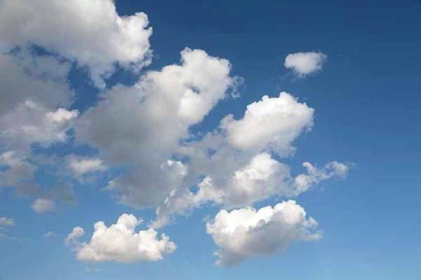 Wall Art - Photograph - Cumulus Clouds In Blue Sky by Ken Welsh
