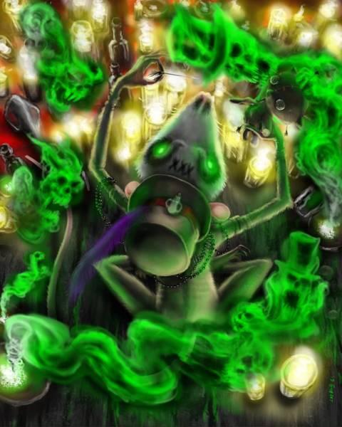 Voodoo Digital Art - Cunja Passe Chat by Brian Gilbert