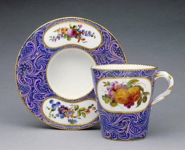 Saucer Drawing - Cup And Saucer Gobelet Et Soucoupe Enfoncé, Première by Litz Collection