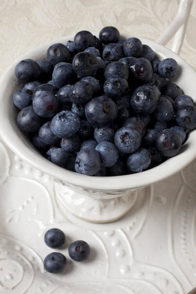 Blue Berry Photograph - Cup Full Of Blueberries by Garry Gay
