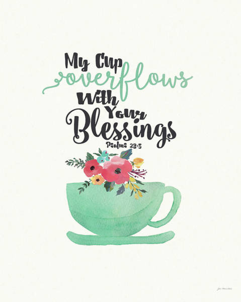 Kitchen Painting - Cup Of Blessings by Jo Moulton