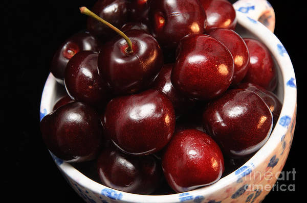 Photograph - Cup Of Cherries - Fruit - Juicy - Sweet - Snack by Andee Design