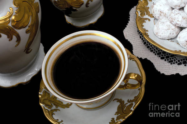 Photograph - Cup Of Coffee With Cookies by Gunter Nezhoda