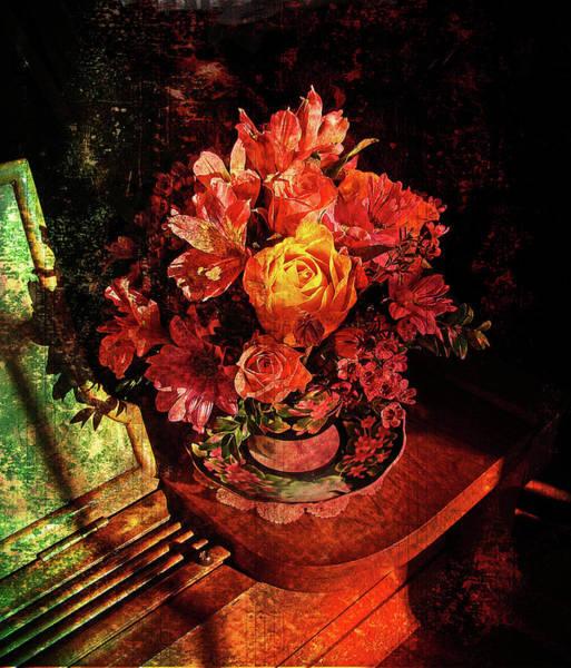 Rose Flower Digital Art - Cup Of Sunshine by Lianne Schneider