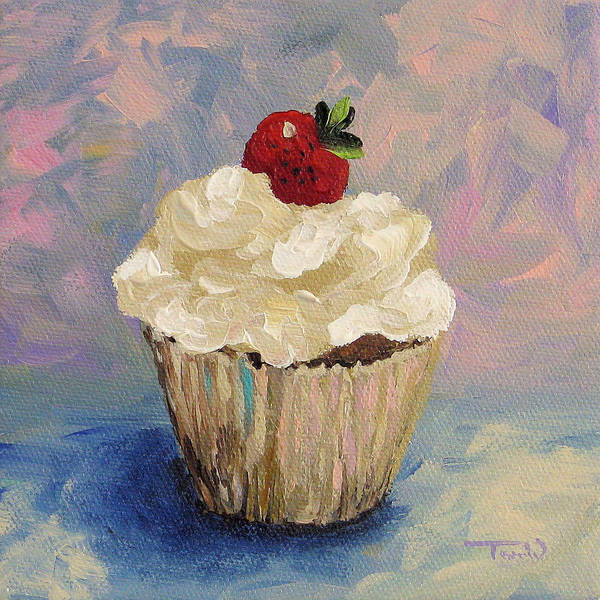 Wall Art - Painting - Cupcake 001 by Torrie Smiley