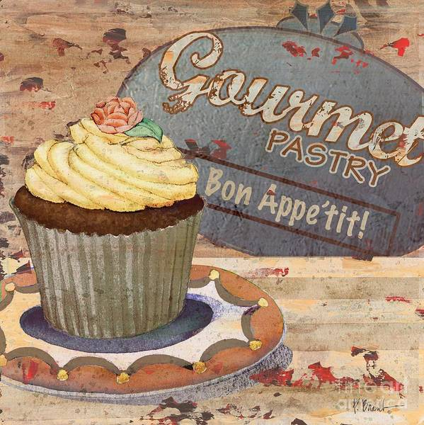 Pastries Painting - Cupcake Baking Sign Iv by Paul Brent