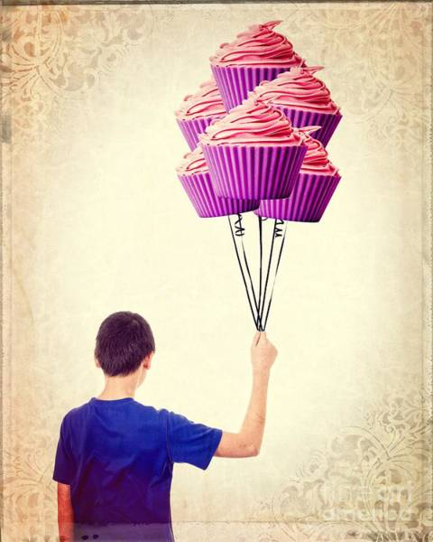 Photograph - Cupcake Balloons by Edward Fielding