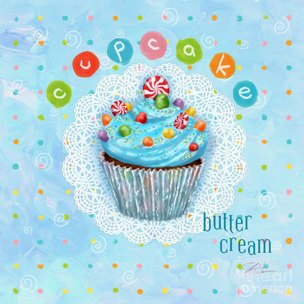 Mixed Media - Cupcake-butter Cream by Shari Warren