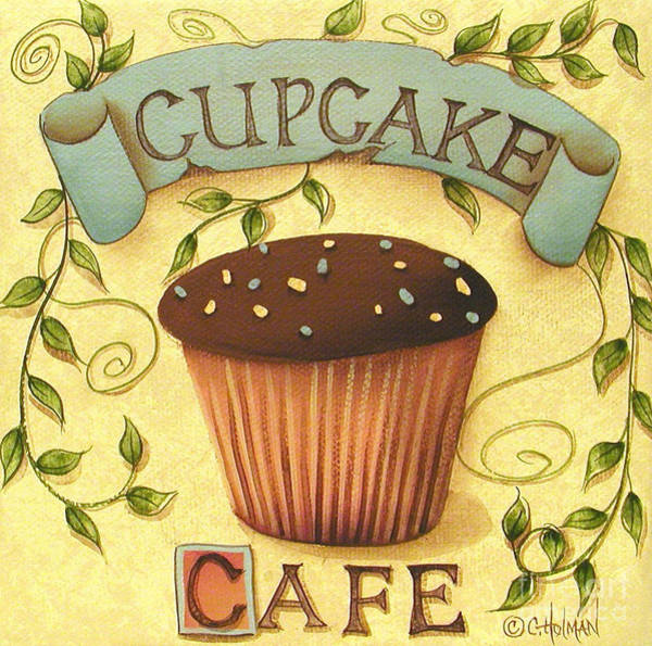 Icing Painting - Cupcake Cafe by Catherine Holman
