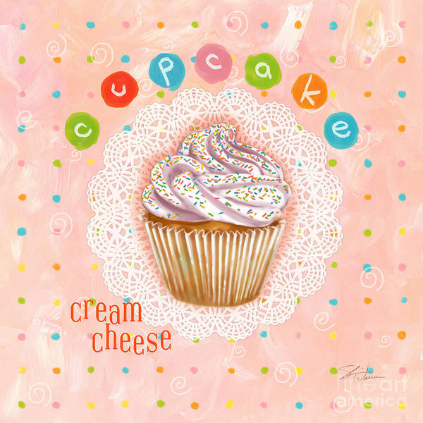 Wall Art - Mixed Media - Cupcake-cream Cheese by Shari Warren