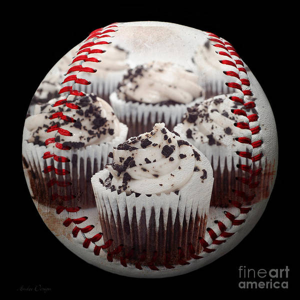Photograph - Cupcake Cuties Baseball Square by Andee Design