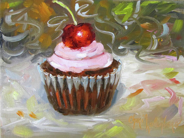 Dessert Painting - Cupcake Festival I by Cheri Wollenberg