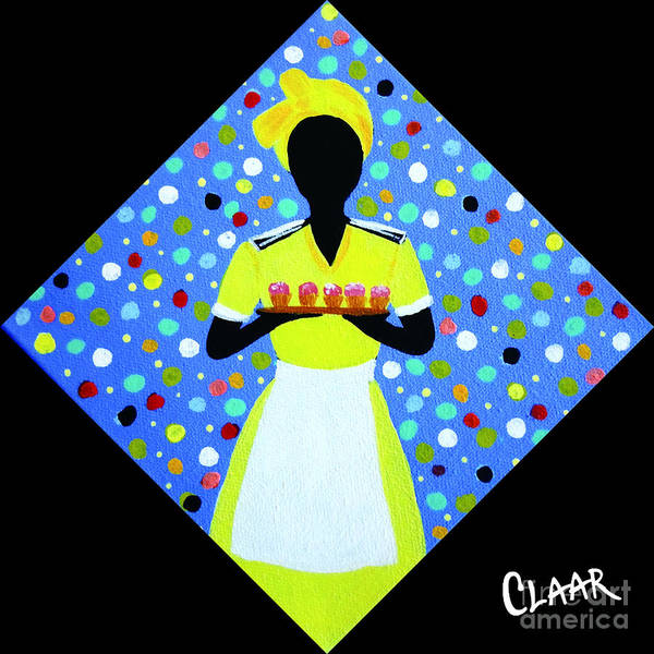 Gullah People Wall Art - Painting - Cupcake by Samantha Claar