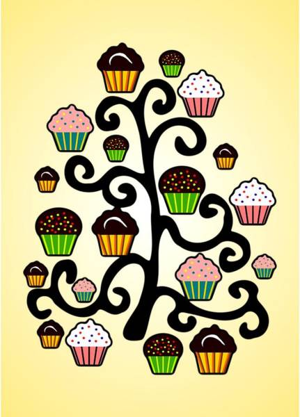 Digital Art - Cupcake Tree by Anastasiya Malakhova