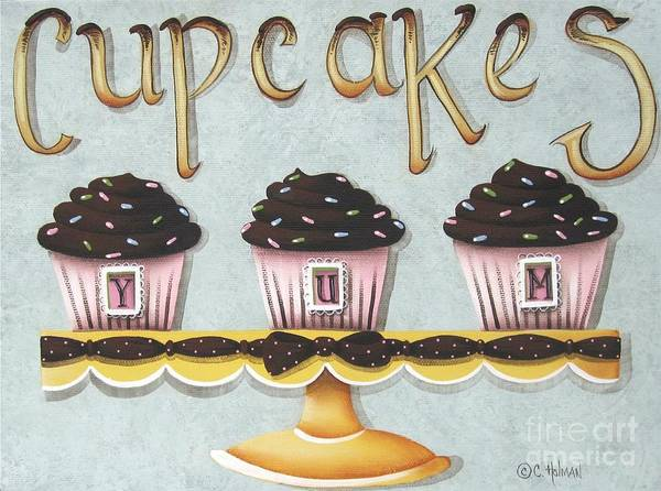 Icing Painting - Cupcake Yum by Catherine Holman