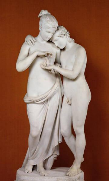 Mythological Photograph - Cupid And Psyche by Antonio Canova