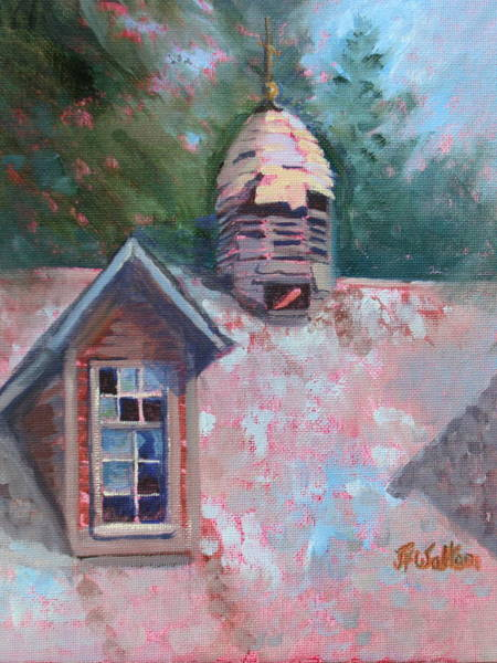 Painting - Cupola And Broken Windows by Judy Fischer Walton