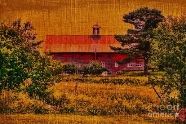 Photograph - Cupola Vermont Barn by Deborah Benoit