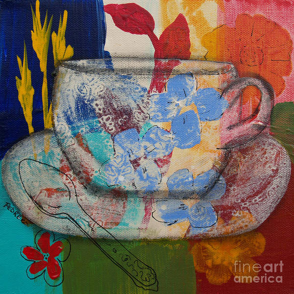 Painting - Cuppa Luv by Robin Maria Pedrero