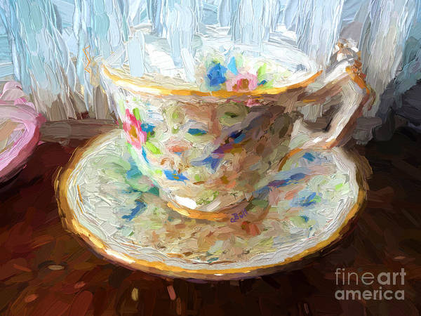 Painting - Cuppa Tea by Claire Bull