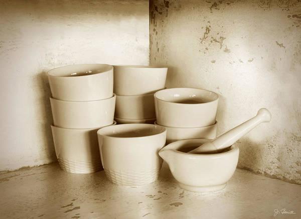 Wall Art - Photograph - Cups Mortar And Pestle by Joe Bonita