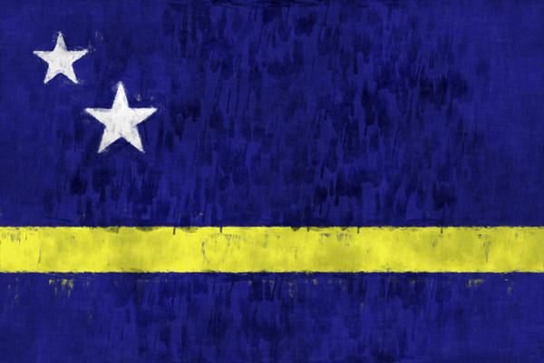 Wall Art - Digital Art - Curacao Flag by World Art Prints And Designs
