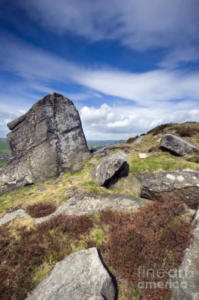 Photograph - Curbar Edge Rocks by David Lichtneker