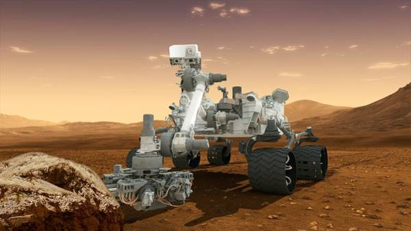 Wall Art - Photograph - Curiosity Rover, Artwork by Science Photo Library