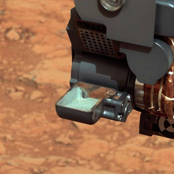 Oxidised Photograph - Curiosity Rover Drilling Sample by Nasa/jpl-caltech/msss/science Photo Library