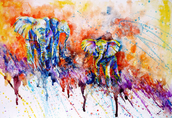 Idea Painting - Curious Baby Elephant by Zaira Dzhaubaeva