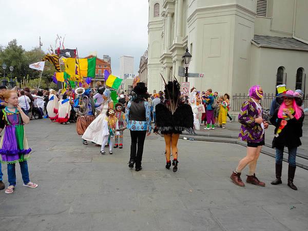 Photograph - Curious Children On Mardi Gras Day by Louis Maistros