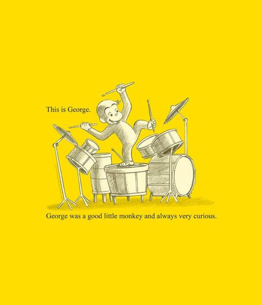 Wall Art - Digital Art - Curious George - This Is George by Brand A