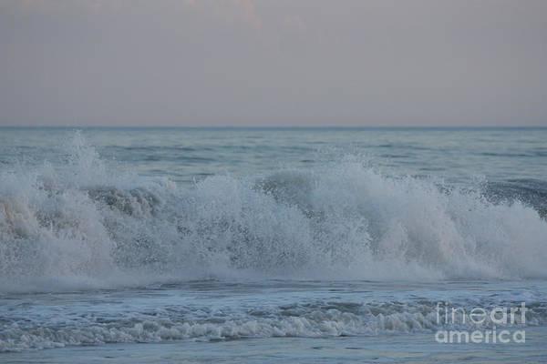 Wall Art - Photograph - Curl Crashing Down At Jones Beach by John Telfer