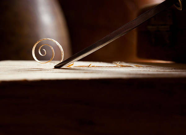 Wood Carving Photograph - Curls by Aaron Aldrich
