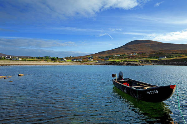 Harbour Island Photograph - Curragh Moored At Dooega Village by Panoramic Images