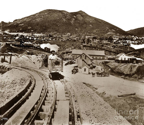 Photograph - Curry Mine.virginia City Nevada.1865 by California Views Archives Mr Pat Hathaway Archives