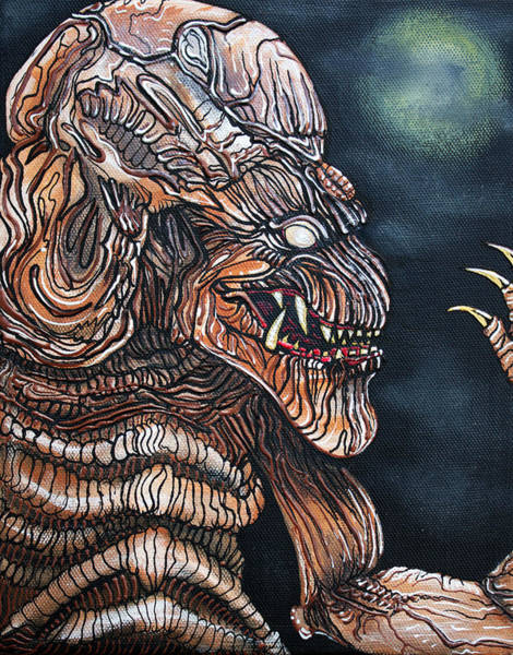 Pumpkinhead Wall Art - Painting - Curse Of The Demon by Laura Barbosa