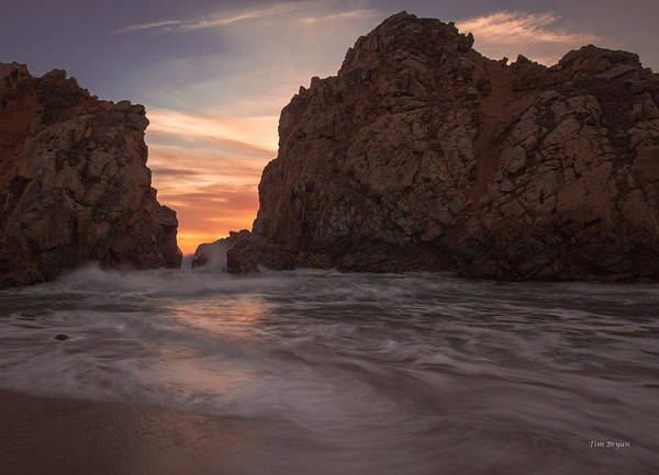 Wall Art - Photograph - Curtain Call At Big Sur by Tim Bryan