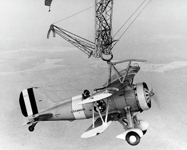 Trapeze Photograph - Curtiss F9c-2 'sparrowhawk' Fighter Plane by Us Navy/science Photo Library